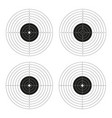 set of shooting targets blank pistol template for vector image