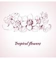 Tropical flower sketch vector image vector image