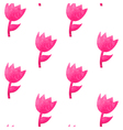 Watercolor seamless pattern with pink tulips vector image