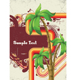 Summer with detailed palm tree vector image