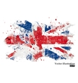 British flag on a white background Grunge vector image