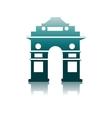 India gate delhi vector image