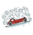 Retro old car sketch for your design vector image