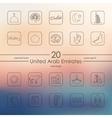 Set of United Arab Emirates icons vector image