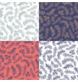 set patterns decoration vector image