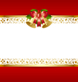 stylized christmas card template vector image