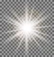 White rays light effect isolated on transparent vector image