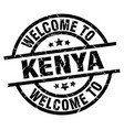 Welcome to kenya black stamp vector image