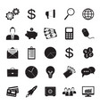 25 business icons set in simple style vector image