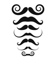 Mustache Icon set vector image