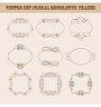 Set of frames for design vector image