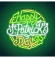 St Patricks Day Glowing Neon Sign vector image