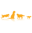 dog line vector image