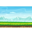 Seamless cartoon landscape with rocks mountains vector image vector image