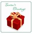 Big gift box vector image