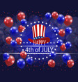 happy independence day a greeting card vector image