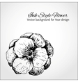 Ink style flower with a place for Your text vector image