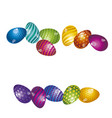 rainbow vivid color easter egg banner bright vector image