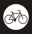 bicycle icon symbol vector image