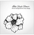 Black and white background Hand drawn flower vector image