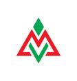 Triangle arrow business logo vector image