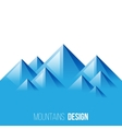 mountains landscape vector image vector image