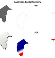 Australian Capital Territory outline map set vector image