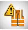 Industrial security design road sign and alert vector image