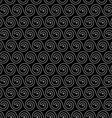 Geometric black seamless pattern with stylized vector image vector image