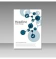 Abstract molecules brochure design cover vector image
