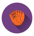 Baseball glove icon vector image