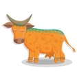 Card with lovely cute pattern cow vector image