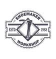 emblem shoemaker work vector image