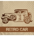 Retro car sketch for your design vector image