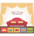 Sofa or couch design poster elements vector image
