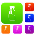 spray set collection vector image