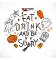 Halloween poster flat vector image