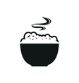 Bowl with porridge simple black icon on white vector image