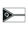 Flag of Vanuatu monochrome on white background vector image