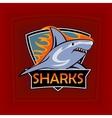 Sharks logo emblem for a sport team vector image