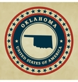 Vintage label Oklahoma vector image