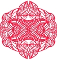 Red tangle pattern vector image vector image