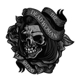 The-Dead-Woman-Skull-Tattoo vector image vector image