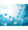 background made from blue puzzle pieces vector image vector image