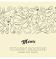 seamless restaraunt background with copyspace vector image