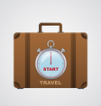 start travel suitcase with timer vector image
