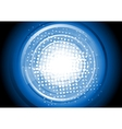 Abstract blue tech background vector image vector image