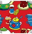 tea cake pattern vector image vector image