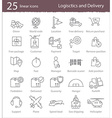 Logistics and delivery icons vector image vector image