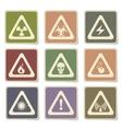 Hazard Sign Icons vector image